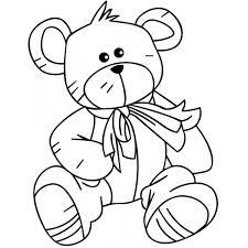 Disegno Di Teddy Bear Da Colorare Per Bambini