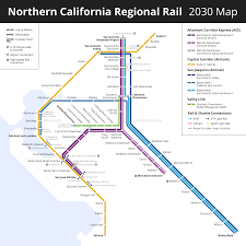 San Jose Light Rail Map Northern California Future Intercity Rail Transit Maps