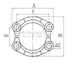 Hydraulic Hose Fittings Chart Sae Split Flange Clamps Hydraulic Hose Fitting Pipe Fitting