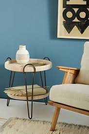 furniture table. Coiled Rattan Side Table Furniture