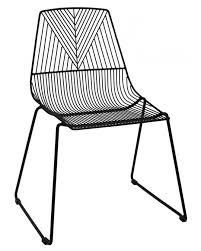 course metal arrow wire chair