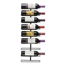 wall mount wine rack holds 9 bottles 1