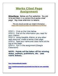 How To Make Work Cited Page Works Cited Mla Assignment Word Doc Words It Works