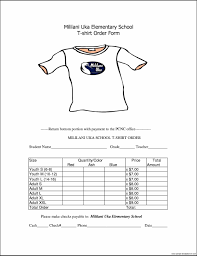 Custom T Shirt Order Form Alan Noscrapleftbehind Co Example School ...