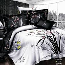 black and white unique bedding set bedclothes 3d bedlinen cotton duvet comforter quilt cover sets king queen drop full size bedding sets on