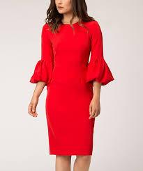 Alton Gray Size Chart Alton Gray Red Ruffle Sheath Dress Women Zulily