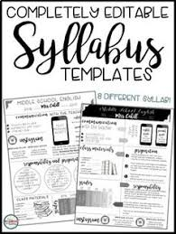 How To Write A Syllabus How To Write A Syllabus Middle School Teachers High School And