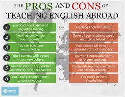 pros and cons of teaching english abroad language news pm6