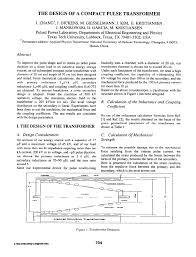 Pulse Transformer Design Pdf Pdf The Design Of A Compact Pulse Transformer