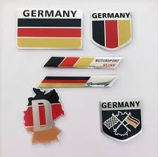 2019 New <b>Fashion quality 3D Aluminum</b> Germany Flag car Badge