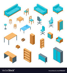 isometric office furniture vector collection. Isometric Office Furniture Vector Collection E