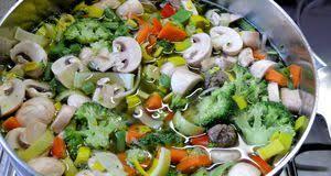 Abnehmen mit fleisch und gemüse
