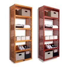 Wood closet shelving Organization 101 Deep Tower With Shelves Honey Maple Finish Pottery Barn John Louis Home Real Wood Diy Closet Organizer System