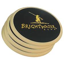 brass leather coasters in bulk personalized