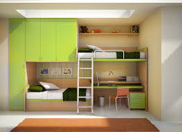 Bedroom:Advanced Bunk Bed Idea With Built In Closets Likewise Twin Mattress  Likewise Desk Advanced