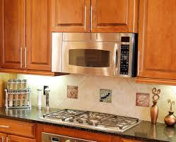Decorative Kitchen Backsplash Decorative Tile Insert Installations Pacifica Tile Art Studio