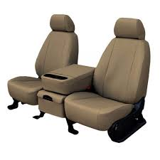 faux leather seat cover beige