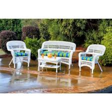 White Wicker Patio Furniture Outdoor Seating & Dining For Less