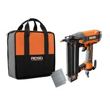 brad nailer with clean drive technology tool bag and sle nails