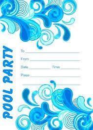 free printable blank pool party invitations. Brilliant Party Pool Party Invitations Invitation Templates Free Printable Blue For Google  Slides Adult Intended Free Printable Blank Pool Party Invitations N
