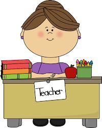 teacher desk clipart.  Teacher Teacher Sitting At A Desk For Clipart C