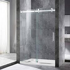 Image Tempered Glass Woodbridge Frameless Sliding Shower 44 Amazoncom Sliding Shower Doors Amazoncom