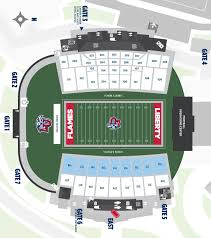 Liberty Football Seating Chart Williams Stadium Fan Guide A Z Liberty Flames