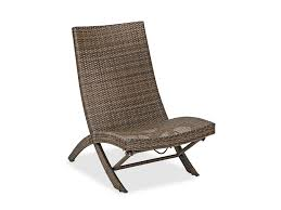 havana aluminum woven resin wicker folding lounge chair