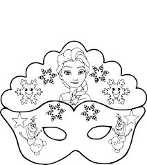 Coloriage Masque La Reine Des Neiges L