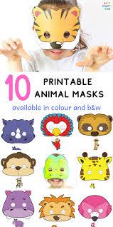How to make a safari animal mask: 10 Printable Safari Animal Masks For Kids Arty Crafty Kids