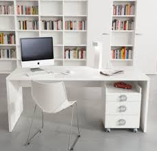 white home office furniture 2763. Contemporary Image Of Home Office Decoration Using 2 Person Desk : Minimalist Modern White Furniture 2763 T