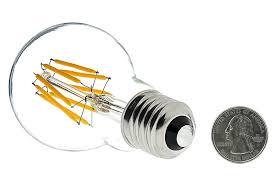12v led lamp led vintage light bulb led globe bulb w filament led back view with