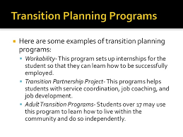 transition plan examples transition transition services transition planning