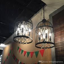 black birdcage chandelier indoor lighting industrial chandelier restaurant bird cage chandeliers dining room teahouse crystal chandeliers window decoration