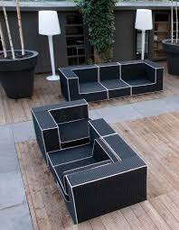 black outdoor furniture. awesome black and white outdoor wicker furniture u2013 haute terasse by borek