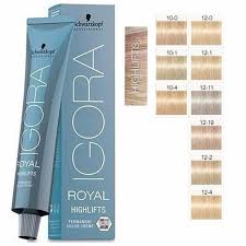 Schwarzkopf 10 Minute Hair Color Chart Schwarzkopf Igora Royal Permanent Permanent Hair Color
