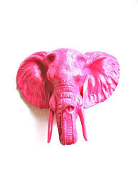 faux taxidermy large elephant head wall