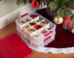 IRIS Wing Lid Holiday Ornament Storage Box With Ornament Divider Christmas Ornament Storage