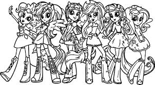 Small Picture My Little Pony Girls Coloring Page Wecoloringpage
