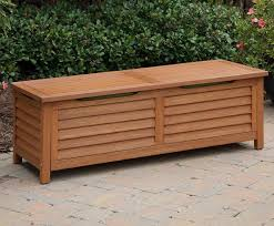 wooden storage box outdoor timber and bench