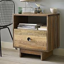 reclaimed wood nightstand. Emmerson® Reclaimed Wood Nightstand - Natural O
