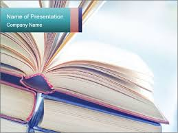 Powerpoint Background Book Open Books Powerpoint Template Infographics Slides