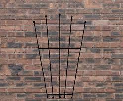 steel wrought iron garden wall trellis