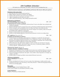 Mechanic Resume Templates Word Lovely Resume Mechanicesume Example