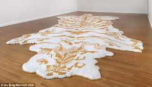 tiger feat chinese artist xu bing s art work made of more than 500 000 individual cigarettes