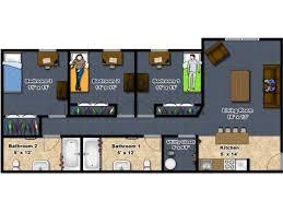 Floor Plan 3 Bed/2 Bath (Per Person Rate)