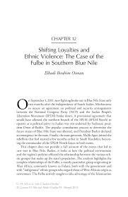 Shifting Loyalties and Ethnic Violence  The Case of the Fulbe in     SpringerLink