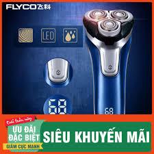 Big Sale Máy Cạo Râu 3 Lưỡi Flyco Fs375, Dao Cạo Râu Chống Nước, Có Đèn Led  Hiển Thị Phần Trăm Pin (Màu Xanh Nước Biển Giá Rẻ, Chỉ Từ 387.000đ. Mua
