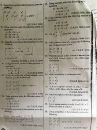 using the properüesofdeterminanta prove the b2 4a2b2c2 02 a 02 i ai c b s e 2009 7 using matrices solve the following system of equations