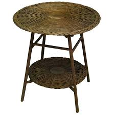 rattan round coffee table round wicker two tier side table heir round wicker table light grey rattan round coffee table